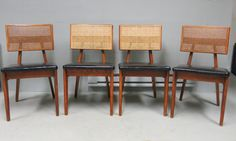 Four George Nelson Side Chairs MCM 1950's