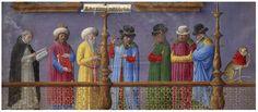 Aristotle Opera (Works)  Printed on vellum by Andrea Torresanus and Bartolomeo de Blavis in Venice, 1483 Opening, Volume 2: Group of Philosophers Disputing by Girolamo da Cremona