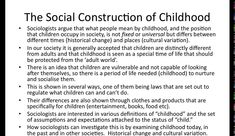social construction of childhood definition
