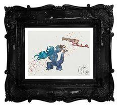 Big Hero 6 archival fine art print Fred by TentakittyInk on Etsy
