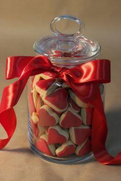 Sevgililer Günü hediyeleri, fikirleri; Valentines Day Gifts, Ideas, kavanoz kurabiyeler, cookies in jar