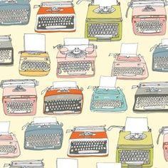 Julia Rothman - Type - Typewriters in Parchment windham