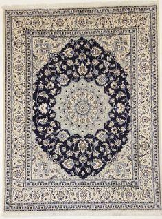 Nain Perser  with silk Handgeknüpft rug 255 x 196 cm ,orientteppich tapis orient