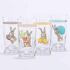 Bunny Juice Glasses-Cute for Easter Brunch!!