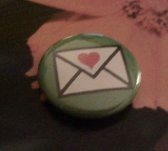 love letter 1 inch pin back button by Lunamotion on Etsy
