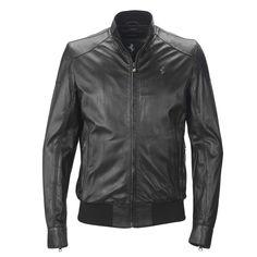 Men's Ferrari Cavallino Rampante Jacket #Ferrari #FerrariStore #CavallinoRampante #PrancingHorse #Leather #Jacket #MadeInItaly #Craftsmanship #MaranelloGT #Exclusive #Style #Racing #Urban #FW2015 #FallWinter2015 #Metal #Plate #Serial #Number #Vintage #SaudiArabia #Look #Black #Nappa #Smooth
