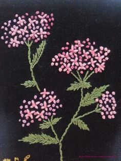Cool design From an unknown South Korean maker - look closely at the larger view - The embroidery is really not complex - satin-stitch leaves, stem-stitchEmbroidery Patterns For Jeans Embroidery Patterns CentralThis Pin was discovered by AmaSu's Silk Embroidery Flowers Pattern, Hand Embroidery Stitches, Silk Ribbon Embroidery, Hand Embroidery Designs, Embroidered Flowers, Floral Embroidery, Cross Stitch Embroidery, Jean Embroidery, French Knot Embroidery