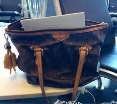 @LouisVuitton_US my fav bag kicking it at LGA.... Have had it forever #travelcompanion