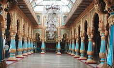 Colors of Royal Durbar Hall - Blue and Gold