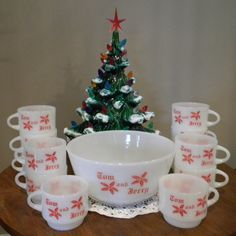 Fire King Tom & Jerry Eggnog Punch Bowl Set by HoardingSisters
