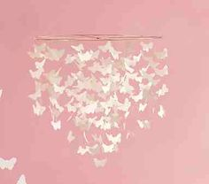 DIY room Decor(: with butterflies! I wanna do this with blue, white and green paper cranes!!!!