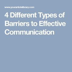 Barriers for effective communication: Offers 4 key points, that are all very important and useful, as to what barriers you could face when trying to communicate effectively. Excellent for training purposes.