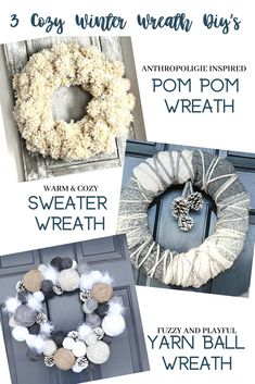 THREE EASY WINTER WREATH DIY'S - StoneGable