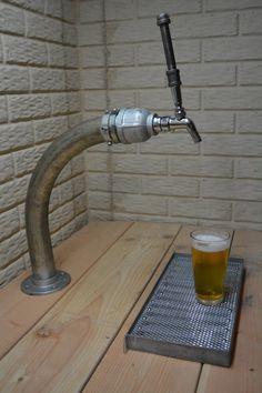 Draft Beer Tap Tower - Iron Steel Pipe Industrial Beer Tower