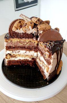 Chocolate Coffee, Chocolate Desserts, Chocolate Cake, No Cook Desserts, Just Desserts, Polish Recipes, Cakes And More, No Bake Cake, How To Make Cake