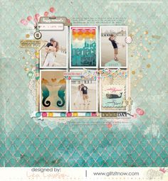 #papercraft #scrapbook #layout LeaLawson-Sequins-DigiLO-1