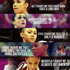 Olympians and life lessons I am a gymnast and they taught me to be a gymnast…