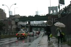 Rainy Brooklyn Bridge Rainy Day - Stock Footage | by brandonaaron There's no escaping season in NYC
