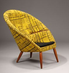Nanna & Jørgen Ditzel. Lounge chair, designed 1953