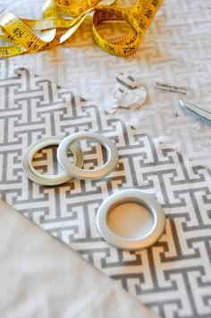 DIY No-sew grommet curtains