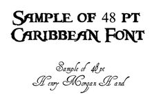 Pieces of Eight font, aka Pirates of the Caribbean font is