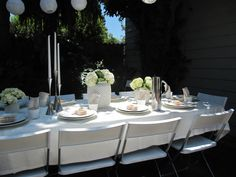 All in White Baby Shower. (Love the idea of one color, so clean)