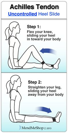 at home physical therapy exercises to streth achilles tendon Achilles Tendonitis Exercises, Achilles Tendonitis Treatment, Achilles Stretches, Tendonitis Causes, Achilles Tendon Support, Achilles Pain, Ankle Exercises, Stretching Exercises, Calf Injury