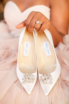 66 Ideas Bridal Shoes Pink Jimmy Choo For 2019 Fairy Wedding Dress, Blue Wedding Dresses, Famous Wedding Dresses, Bridesmaid Dresses, Wedding Colors, White Wedding Shoes, Wedding Heels, Wedding Bride, Sparkle Wedding