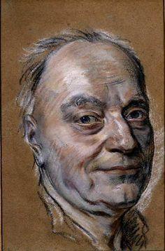 Maurice Quentin DE LA TOUR | Étude pour le portrait de Prosper Jolyot de Crébillon (exposé au Salon de 1761) | vers 1761 | Pastel