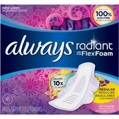 Always Radiant Regular Scented Pads with Flexi-Wings, (Choose your Count)
