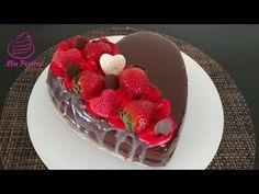 PASTEL DE CORAZÓN❤ San Valentin + receta de ganache - YouTube Wine Slushies, Jello Desserts, Heart Cookies, Valentine Heart, Neko, Chocolates, Love Food, Dawn, Cheesecake