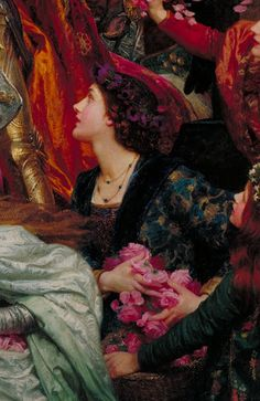 The Two Crowns (detail) - Sir Frank Dicksee, 1900 Frank Dicksee, Dante Gabriel Rossetti, Traditional Paintings, Traditional Art, Gustav Klimt, Painting Inspiration, Art Inspo, John William Godward, Lawrence Alma Tadema