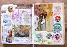 No More Excuses Journal pages by Jessie Starling #artjournal #noexcuses #artjournaling by Gina Rossi Armfield