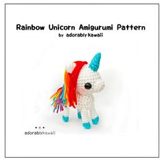 The rainbow unicorn pattern has been released today! I designed this unicorn last year for my shop. Pattern includes written instructions for stitches & assembly, photo tutorial for magic ring, template for the felt pieces, and some photos to help you along the way. Pattern is available on my website, Ravelry, and Craftsy.