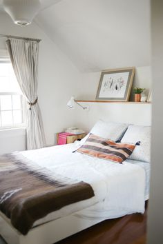 Industrial Task Sconce + Simple Bed Frame from west elm