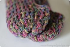 Free fast crochet slipper pattern. Adjustable for any size.