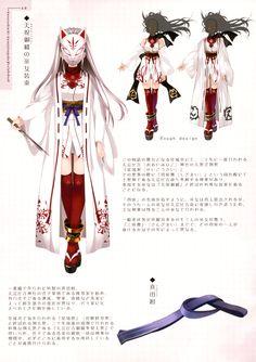Anime Kitsune mask