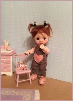 Discover thousands of images about Ellabella Nikki Britt (Kotya) Dollhouse Dolls, Miniature Dolls, Teddy Bear Gifts, Clay Baby, Polymer Clay Dolls, Crochet Bear, Bear Doll, Little Doll, Reborn Baby Dolls