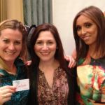 Lora Jakobsen of FoodStirs and Laura Gerson of MomAngeles with Giuliana Rancic at Biggest Baby Shower Ever 2013.