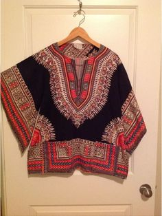 Vintage Unisex Dashiki shirt 70s Hippie batwing sleeves by TheElegantBohemians on Etsy