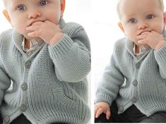 """Tricot gratuit : le gilet layette en côtes perlées A classic version of """"mini-moi"""", this vest model is knitted in beaded ribs for the body and collar, the cuffs and bottom are in rib. Baby Boy Knitting Patterns, Knitting For Kids, Baby Patterns, Free Knitting, Knitting Ideas, Baby Gifts To Make, Cute Baby Gifts, Mini Me, Sewing Online"""