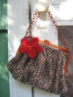 cute little recycled sweater purse