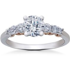 Item #: ENG122911-.75 Width: 2 mm Weight: 3.2 g Metal: Diamond Color: F Diamond Clarity: VS Diamond Quantity: 7 Diamond Setting: Prong …