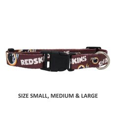 Show support of your favorite team with this adjustable nylon officially  licensed NFL Washington Redskins pet 36d9253d1