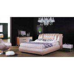 Modrest BL9043 Modern Beige Leatherette Bed -
