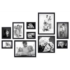🌟 💖 🌟 💖 Photo wall ready to use to 10 frames - Black - and- Collage Mural, Photo Wall Collage, Picture Wall, Happy New Home, Photo Arrangement, Photo Wall Decor, Gallery Wall Layout, Rental Decorating, Inspiration Wall