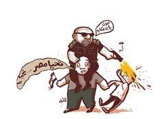 كاريكاتير - أنديل (مصر)  يوم الأحد 22 مارس 2015  ComicArabia.com  #كاريكاتير