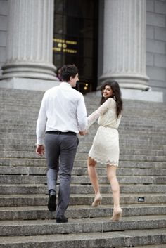 32 Newlyweds Who Tied The Knot At City Hall   #refinery29  http://www.refinery29.com/35880#slide3  No looking back, Dasha!