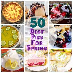 Sugar Cream Pie Recipe, Cream Pie Recipes, Spring Desserts, Spring Recipes, Raspberry Cream Pies, Margarita Pie, Frozen Strawberry Margarita, Oreo Cookie Cake, Homemade Cherry Pies