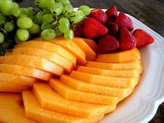 Learn how to Cut a Cantaloupe Melon for fruit platters and deli trays.